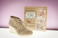"TOMS ""Desert Wedge"" Moroccan cut out $125.00 at Twenty 5 Reid"